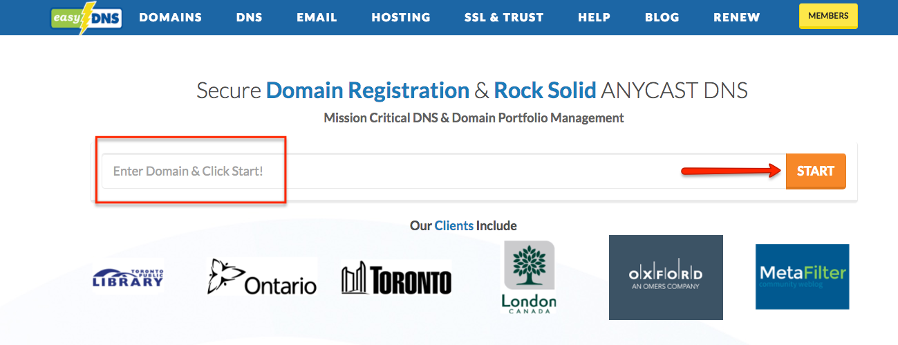 Transferring A Domain To Easydns Easydns Technologies Inc
